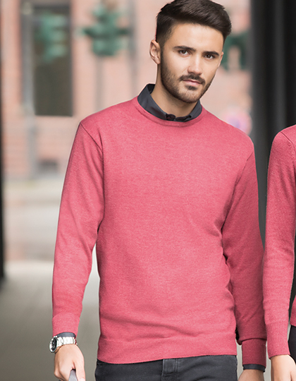 Sweter Mens Crew Neck Knitted Pullover