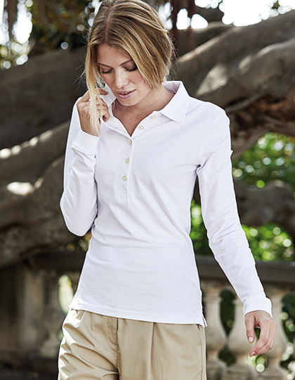 Polo damskie długi rękaw Ladies Luxury Stretch