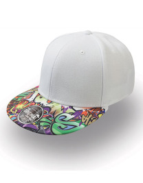 Czapka damska Snap Colour Cap White/Graffiti