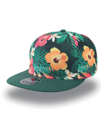 Czapka damska Snap Fantasy Flower Green/Dark Green