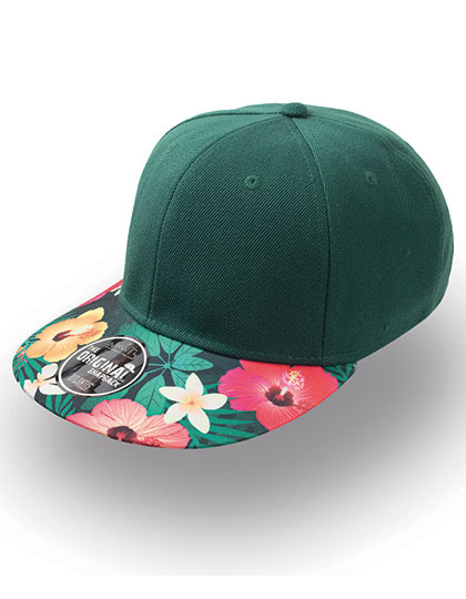 Czapka damska Snap Colour Cap Dark Green/Flower